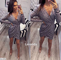Платье красивое блестящее, приталенное.пайетка серебро. размер 46-48