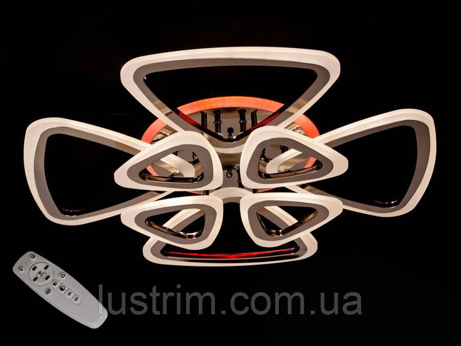 Светодиодная LED-люстра с диммером и подсветкой, 145W