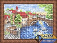 Схема для вышивки бисером - Лебеди в городском пруду, Арт. ПБп3-104