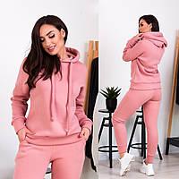 Женский костюм теплый на зиму розового цвета 42-44, 44-46