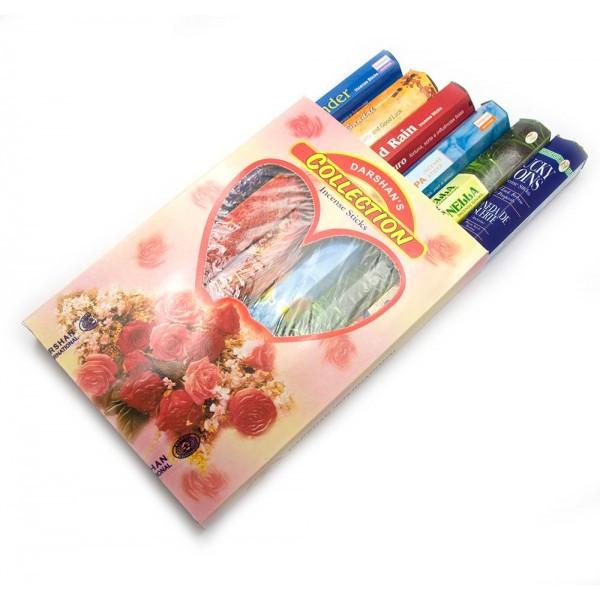 Collection (Коллекция аромапалочек)(Darshan) (6/уп) шестигранники (цена за набор 6 шт) ( 4116)