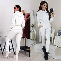 Женский костюм теплый на зиму молочного цвета 42-44, 44-46