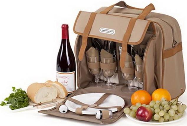 Набір для пікніка КЕМПІНГ Almond СА-576 (посуд на 4 персони + сумка з термо-відсіком)