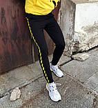 Спортивні штани в стилі Off White Stripe чорні чж, фото 2