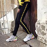 Спортивні штани в стилі Off White Stripe чорні чж, фото 3