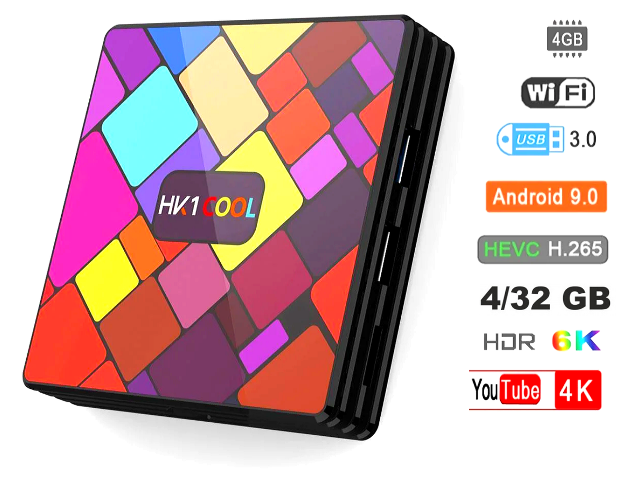 Смарт приставка HK1 Cool 4Gb/32GB Android 9.0 Smart TV Оригинал