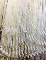 """Изысканный тюль на фатиновой основе с вышивкой корд """"Волна"""""""