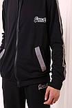 Костюм Quest Wear чорний з світловідбиваючими смугами та логотипом, фото 2