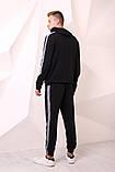 Костюм Quest Wear чорний з світловідбиваючими смугами та логотипом, фото 3
