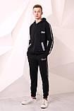 Костюм Quest Wear чорний з світловідбиваючими смугами та логотипом, фото 4
