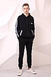 Костюм Quest Wear чорний з світловідбиваючими смугами та логотипом, фото 5