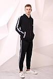 Костюм Quest Wear чорний з світловідбиваючими смугами та логотипом, фото 6