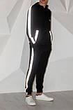 Костюм Quest Wear чорний з світловідбиваючими смугами та логотипом, фото 7