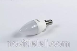 Светодиодная лампа C37, 5W,3000k, 400lm, E14,220V