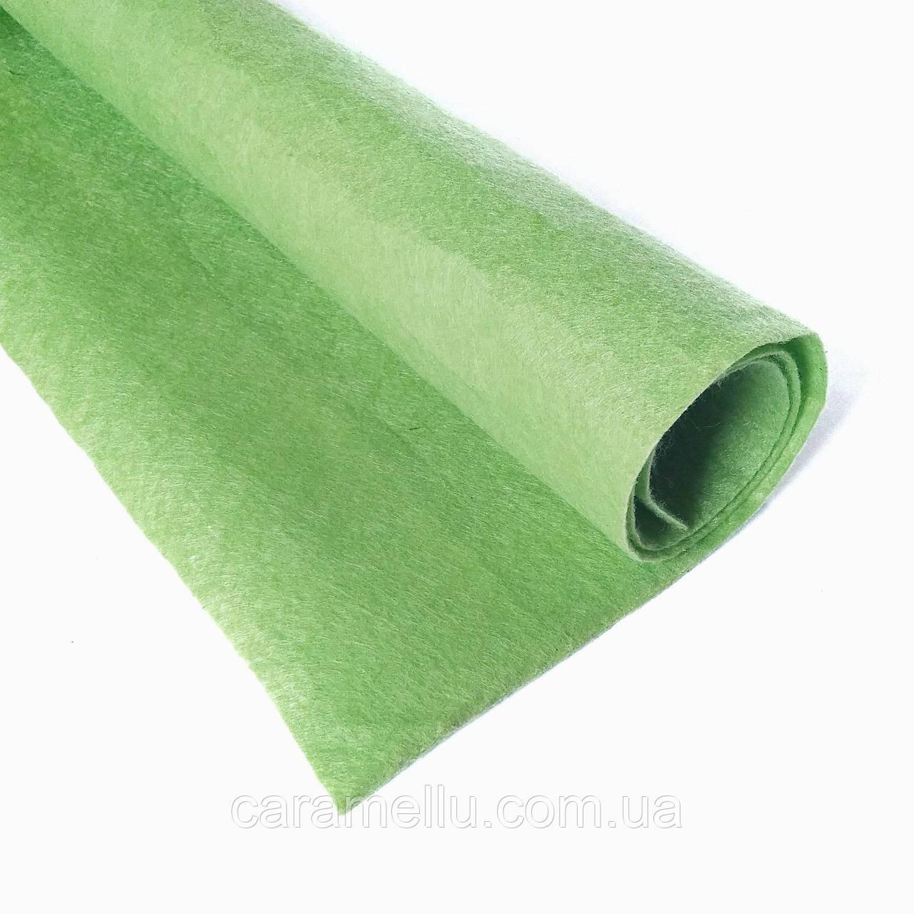 Фетр Светло-зеленый 1мм, 80х100см.