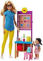 Игровой набор кукла Барби Учитель Я могу быть Barbie Careers Teacher FJB29
