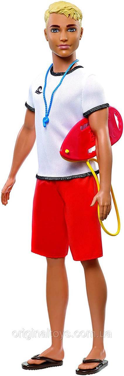 Кукла Барби Кен Спасатель Я могу быть Barbie Lifeguard FXP04