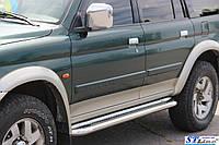 Mitsubishi Pajero Sport (96-08) боковые пороги подножки площадки на для Митсубиси паджеро Спорт Mitsubishi Pajero Sport (96-08) d60х1,6мм