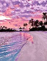 Картина по номерам Закат на берегу