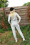 Жіночий костюм сірий Ангора, фото 3