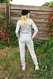 Жіночий костюм сірий Ангора, фото 4