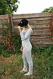 Жіночий костюм сірий Ангора, фото 6