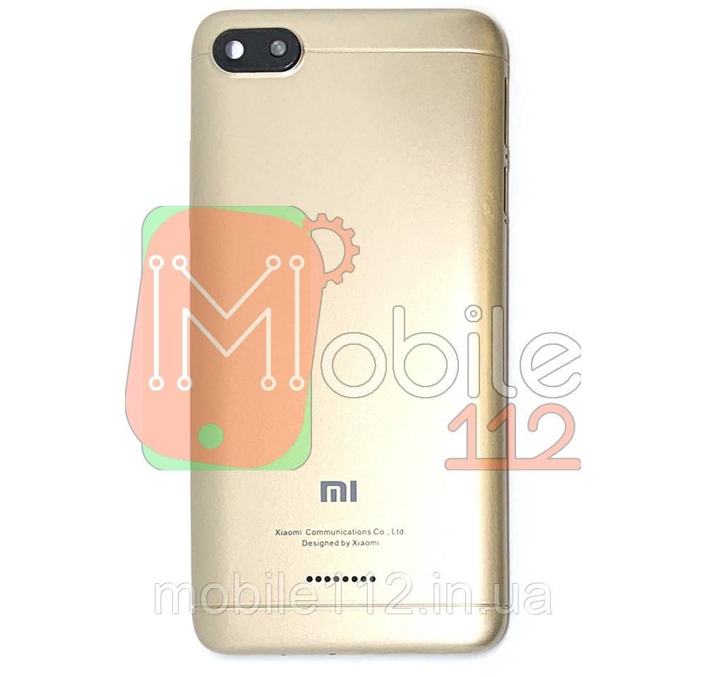 Задня кришка Xiaomi Redmi 6A Global version золотиста 2 SIM