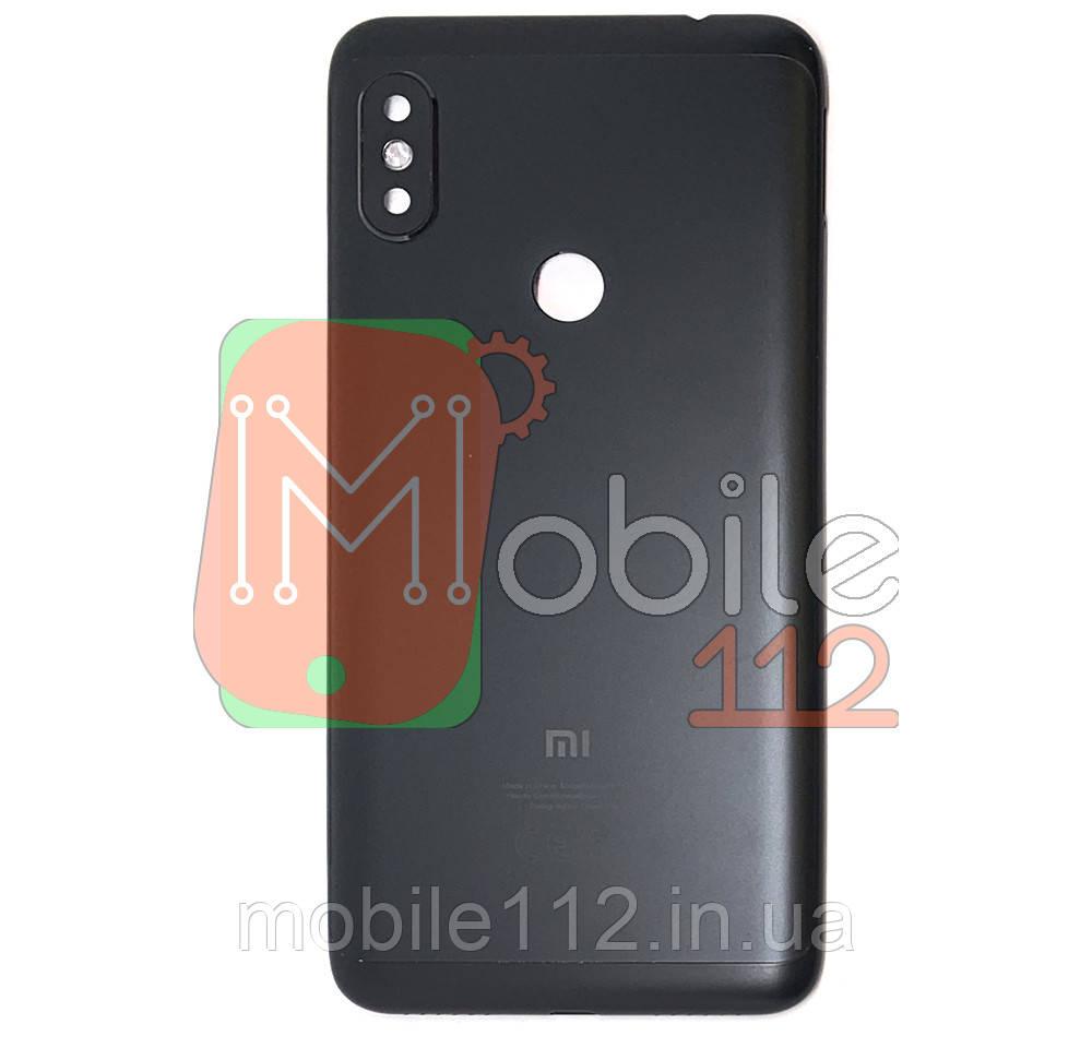 Задняя крышка Xiaomi Redmi Note 6 Pro, M1806E7TG черная оригинал Китай со стеклом камеры