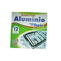 Фольга для плит аллюминиевая (12 шт) 27х27см арт.704