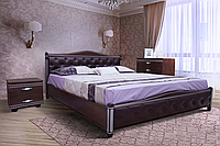 Кровать двуспальная Прованс 160-200 см ромб патина серебро (Венге)