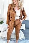 Костюм в клетку укороченные брюки и пиджак (8991-6), фото 3