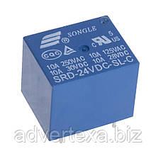 Реле SRD-24VDC-SL-C управление 24В нагрузка 250В 10А