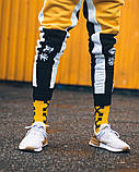 Спортивні штани Triplekill чорно-жовті, фото 2