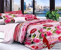 Комплект постельного белья двухспальный XHY2153 ТМ TAG 2-спальный, постельное белье двухспальное