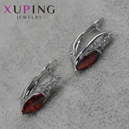 Серьги женские Xuping Jewelry медицинское золото - 1110722592, фото 2