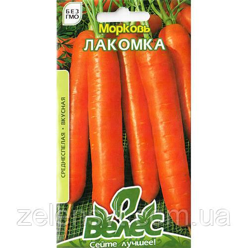 """Насіння моркви середньостиглої, придатна для зберігання """"Лакомка"""" (3 г) від ТМ """"Велес"""""""