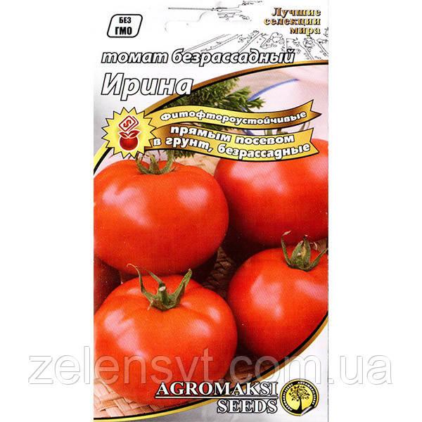Насіння томату безрассадного ультраранні, низькорослого «Ірина» (0,4) від Agromaksi seeds