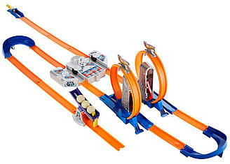 Трек Хот Вилс Двойное ускорение Hot Wheels Track Builder Total Turbo Takeover Track Set