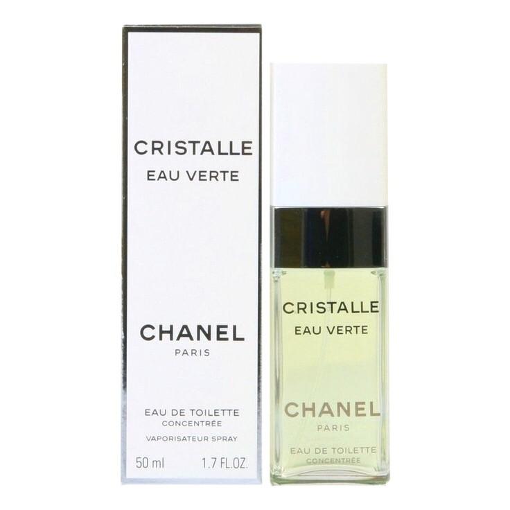 Оригінальні жіночі парфуми CHANEL Cristalle Eau Verte туалетна вода 50ml, шикарний цитрусовий квітковий аромат