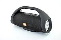 Портативная колонка BOOMBOX JND-891 (Bluetooth, softouch, Micro SD, USB, 2 динамика) Black