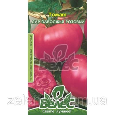 """Насіння томату раннього, для відкритого грунту, рожевого """"Дар Заволжя"""" (1,5 г) від ТМ """"Велес"""""""