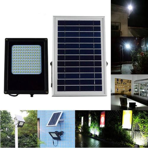 Уличный светильник на солнечной батарее  с датчиком освещенности  120 LED 3.7 В/6000 мАч