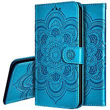 Чехол Lotus для Samsung Galaxy Note 10 Plus / N975F книжка кожа PU голубой