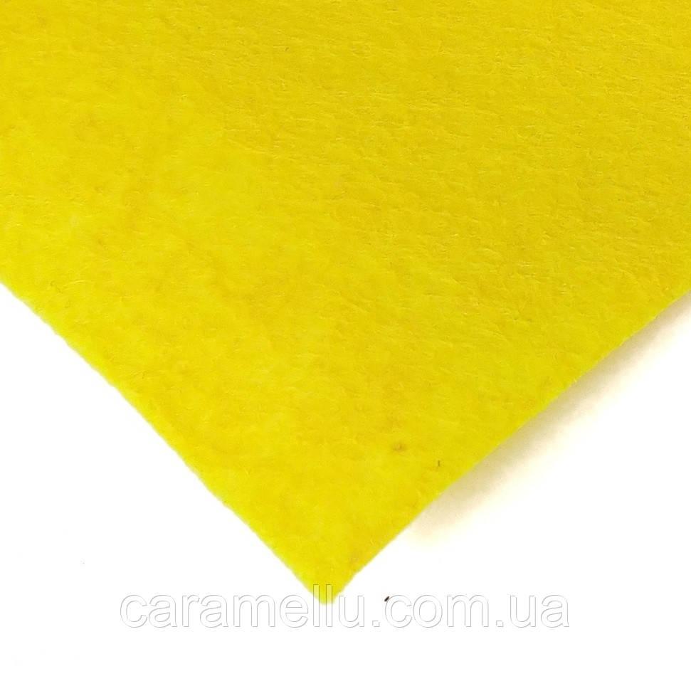 Фетр Светло-желтый 1мм, 40х50см.