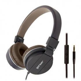 Наушники GORSUN GS-779  (с микрофоном, мониторы) Brown