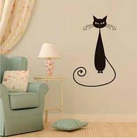 Наклейка / стикер на стену Кошка