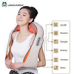 Массажер роликовый на липучках для спинr для шеи, плеч, спины Geizer 85W 6 кнопок