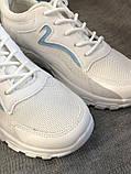 Белые кроссовки на платформе с сеточкой, фото 5