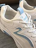 Белые кроссовки на платформе с сеточкой, фото 7