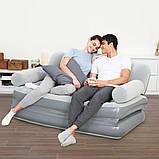 Надувной диван кровать BestWay со встроенным электро насосом 3 в 1, фото 5